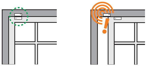نصب سنسور حرکتی تماسی بر روی پنجره ها