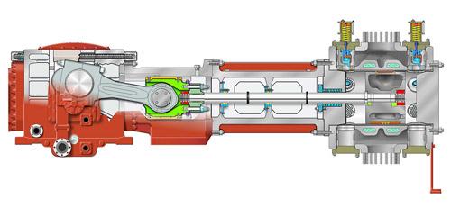 نمونه کمپرسور رفت و برگشی مورد استفاده در چیلر تراکمی