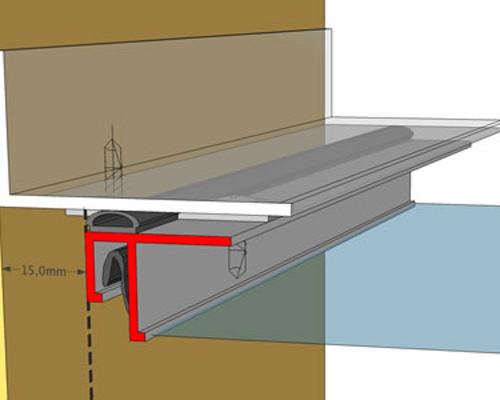 ریل و پارچه سقف کششی