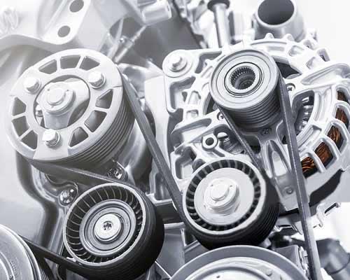 نمایی از اجزای موتور ژنراتور گازسوز یا بنزینی