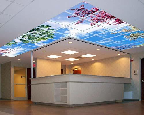 سقف کاذب طرح دار در لابی ساختمان