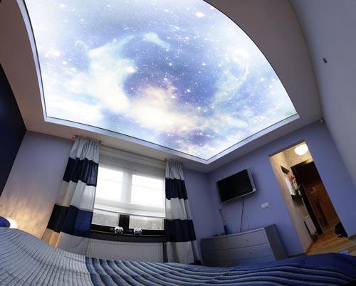 دوراسیون داخلی اتاق با سقف کشسانی