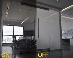 شیشه لمینت هوشمند در اتاق جلسات