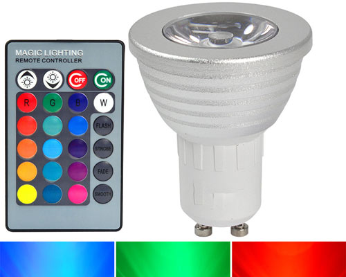 یکی از ویژگی های لامپ SMD کنترل رنگ آن به وسیله ی یک ریموت می باشد