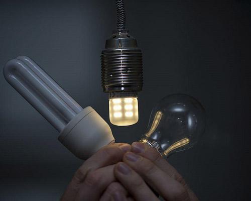 مقایسه لامپ ال ای دی با کم مصرف