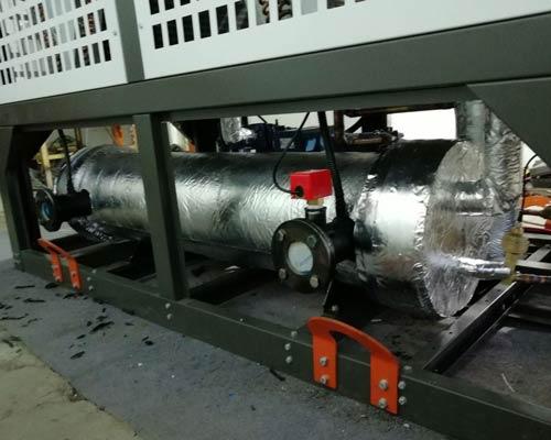 مونتاژ و نصب اواپراتور پوسته و لوله در چیلر هوایی