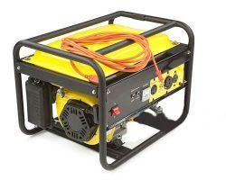 موتور ژنراتور به همراه سیمی جهت انتقال برق تولیدی به سیستم برق ساختمان