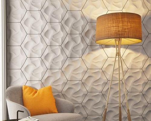 دیوارپوش سه بعدی به صورت برجسته
