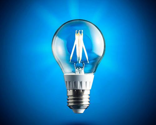 لامپ فیلامنتی هنری و خاص با رنگ آبی