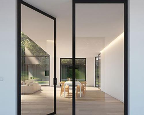درب شیشه ای سکوریت ترکیب شده با آلومینیوم