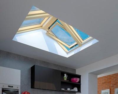 سقف یو پی وی سی لمینت رنگی با شیشه سکوریت