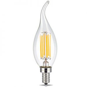 لامپ فیلامنتی اشکی با پایه E14 برای لوستر