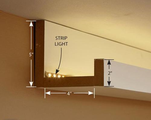 طریقه نصب ال ای دی نور مخفی برای سقف خانه
