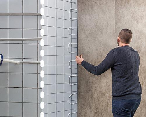 استفاده از چسب کاشی برای نصب دیوارپوش پی وی سی بر روی دیوار حمام