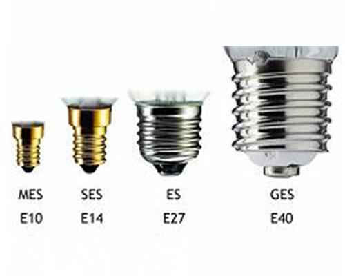 پایه های لامپ فلامنتی سرپیچی مدل طرح ادیسونی یا حبابی