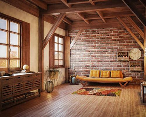 پنجره زیبا منزل به سبک چوبی