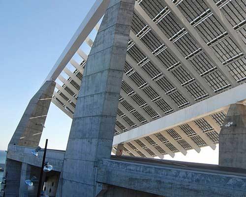 پایه پنل خورشیدی بتنی و آهنی با روکش گالوانیزه