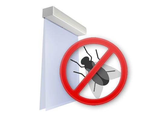 پرده هوایی از ورود حشرات به ساختمان جلوگیری می کند