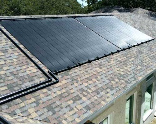 ایجاد آبگرم استخر خورشیدی در پشت بام منازل مسکونی