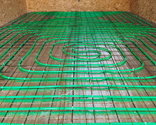 لوله پنج لایه به کار رفته برای سیستم گرمایش از کف