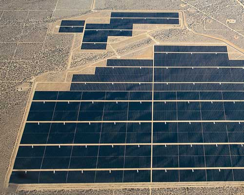 نیروگا های خورشیدی بزرگ در بیابان ها در سطح مگا وات