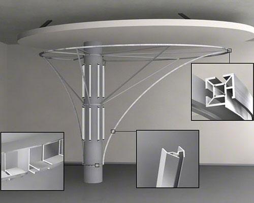 پروفیل سقف کشسان برای طراحی و ساخت عنصر دکوراتیو