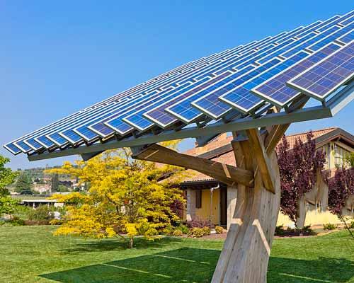 پنل های خورشیدی مناسب برای خونه باغ