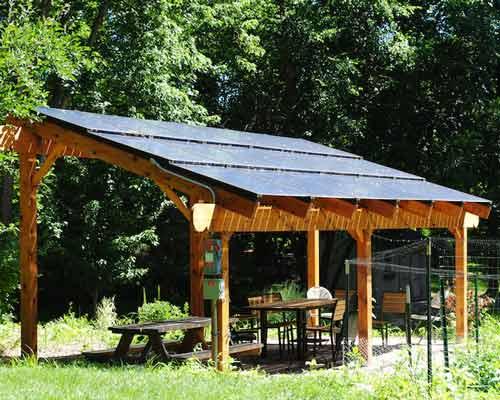 پنل خورشیدی برای باغ یا باربیکیو و سیستم خورشیدی برای باغ