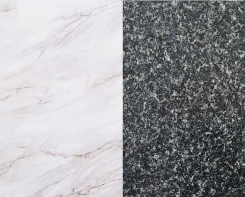 دو نوع سنگ مرمر سفید و سنگ مرمر مشکی