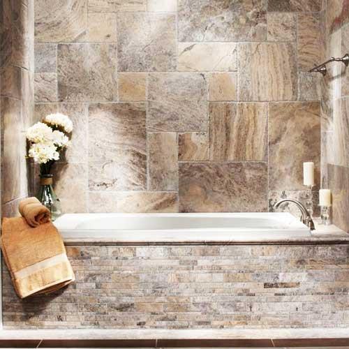 استفاده از سنگ تراورتن به عنوان دیوارپوش حمام