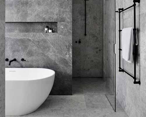 استفاده از سنگ برای دکوراسیون حمام