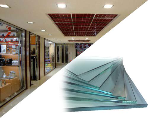 تهاتر واحد تجاری و اداری مرکز تجاری با اجرای شیشه سکوریت