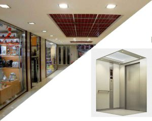 تهاتر آسانسور با واحد های تجاری در شهر قزوین