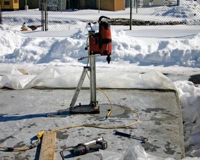 استفاده از ضدیخ مایع بتن در برف و دمای پایین