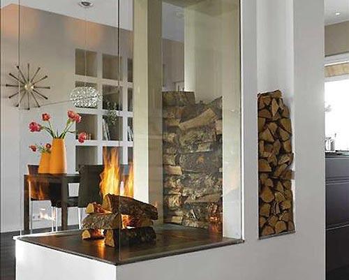 جلوگیری از اتلاف گرما با استفاده از شیشه محصور در شومینه شیشه دار
