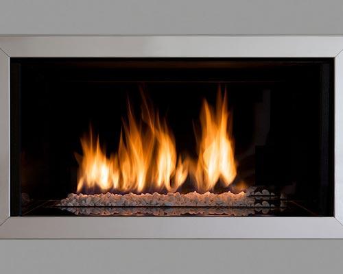 تولید حرارت بیشتر و عدم تولید دوده در شومینه گاز