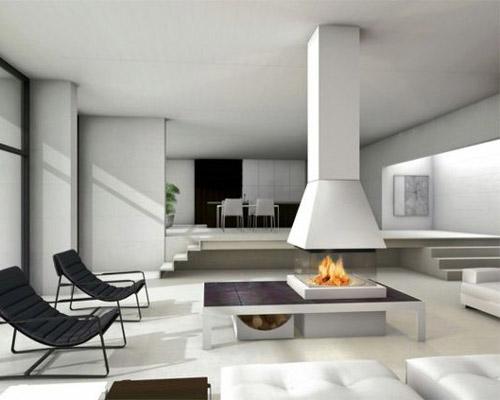 گرم ردن محیط با سوختن چوب و بدون نیاز به شومینه توسط کوره چوب سوز شومینه داخل سالن