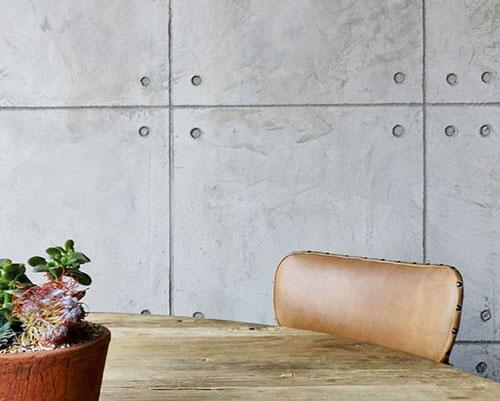 سطح صاف تشکیل شده از دیوارپوش سه بعدی بتن اکسپوز