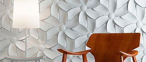 پوشش دیوار با دیوارپوش بتنی سه بعدی