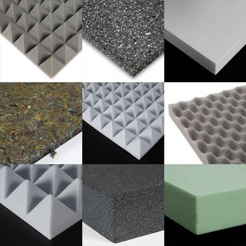 انواع مختلف فوم آکوستیک برای اجرای عایق صوتی سقف و دیوار