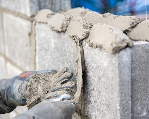 سیمان بنایی به کار رفته در ساخت بلوک بتنی و مصالح سنگی