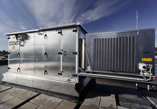 نصب هواساز روی پشت بام