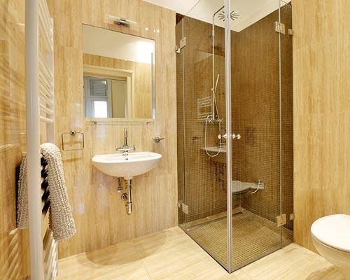 نصب کابین دور دوشی در حمام فعلی برای مجزا کردن فضای دوش از سرویس