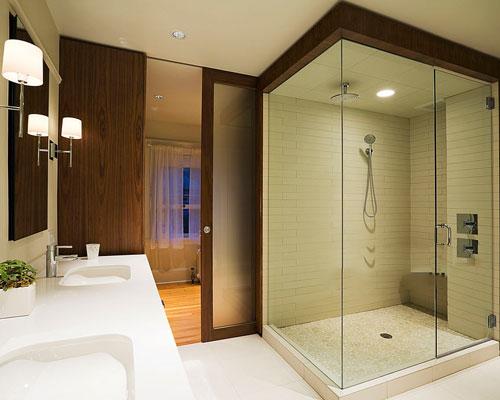 به کار رفتن شیشه ضخیم تر در کابین فریم لس دوش حمام