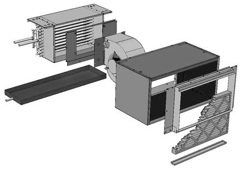 اجزا و طریقه نصب فن کویل کانالی سقفی توکار