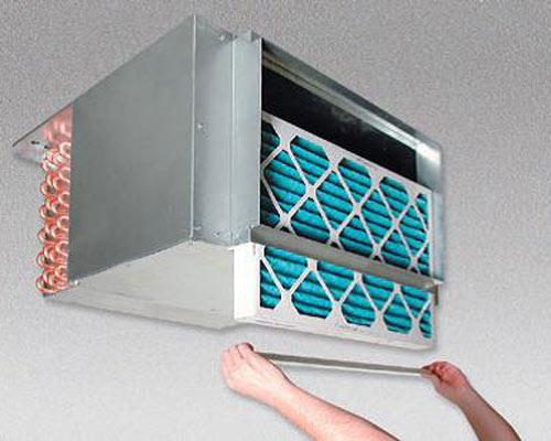 تعویض فیلتر هوا فن کویل دیواری