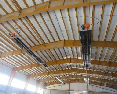 نصب بخاری تابشی در سوله صنعتی