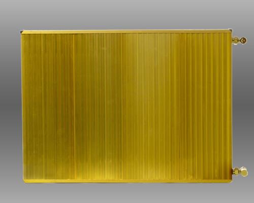 شوفاژ پنلی طلایی رنگ