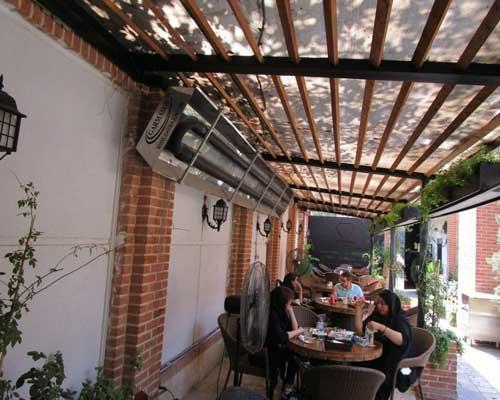 بخاری فضای باز رستوران تابشی