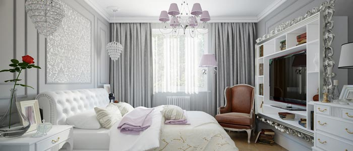بکار رفتن انواع پرده پنجره در قسمت های مختلف مانند پرده اتاق خواب